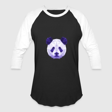 Panda Vector Panda Head Poly Vector - Baseball T-Shirt