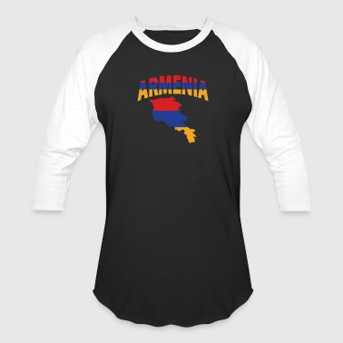 Armenia flag map - Baseball T-Shirt