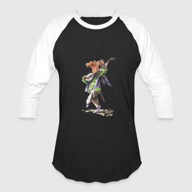 chanting chanterelle / music /musician / mushrooms - Baseball T-Shirt