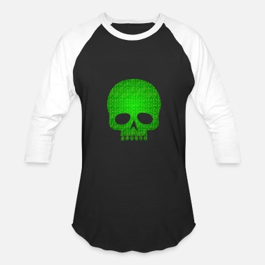 Code Skull binary code - Baseball T-Shirt