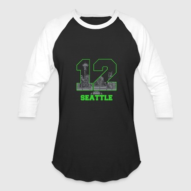 Twelve seattle - twelve seattle - Baseball T-Shirt