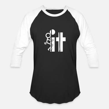Sitting sit - Unisex Baseball T-Shirt