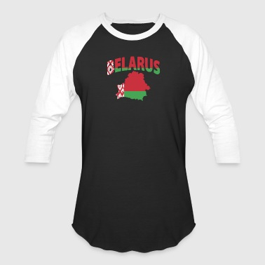 Belarus flag map - Baseball T-Shirt