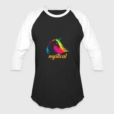 Mystical Unicorn Rainbowcolors - Baseball T-Shirt