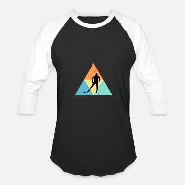 Cross Cross Country Skiing - Baseball T-Shirt
