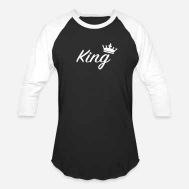 Fonts Couples King with crown /Couples - Baseball T-Shirt