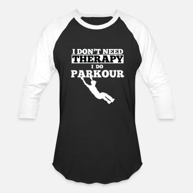 Parkour Awesome and Cool Parkour Tshirt Design Theraphy Parkour - Baseball T-Shirt