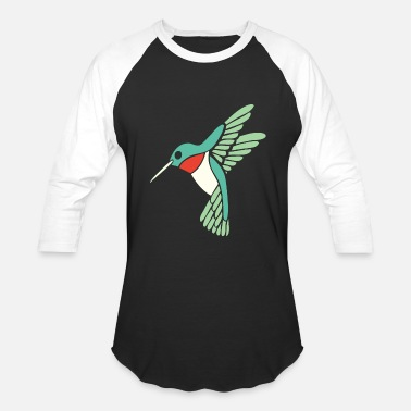 Ornithology Hummingbird - dicky ticker hummingbird - Baseball T-Shirt