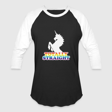 Totally Straight Unicorn 2018 Totally Straight Art Drawing - Baseball T-Shirt