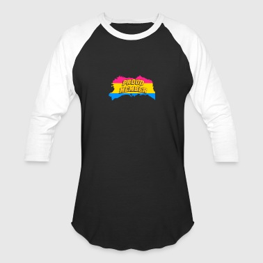Pansexual Asexual gay pride proud member of pansexual gay t shirt - Baseball T-Shirt