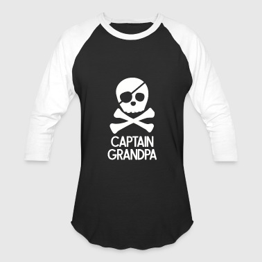 Thepiratebay Pirate - Mens Captain Grandpa Pirate - Baseball T-Shirt