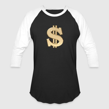 3d 3D dollar sign - Baseball T-Shirt