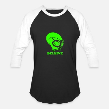 Alien X Alien Believe X Files - Baseball T-Shirt
