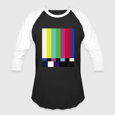 This is a TV Test | Retro Television Broadcast - Baseball T-Shirt