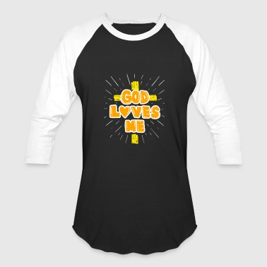 Irreligious God loves Me gift - Baseball T-Shirt