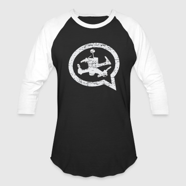 Men's Distressed 3/4 Length Quad Talk Baseball Jer - Baseball T-Shirt
