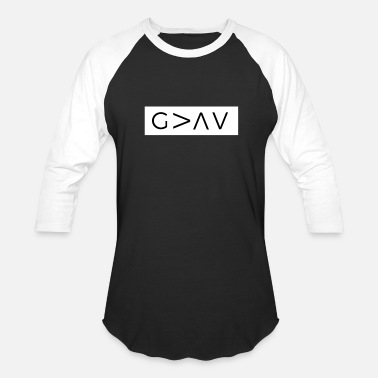 Greater God Is Greater Than The Highs And Lows - Unisex Baseball T-Shirt