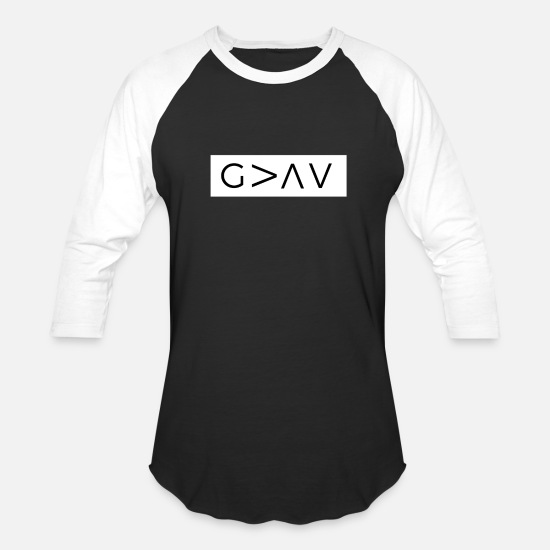 Jesus T-Shirts - God Is Greater Than The Highs And Lows - Unisex Baseball T-Shirt black/white