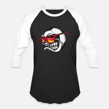 Angry Ball Germany Angry Soccer Ball with Sunglasses Deutschland Fan - Baseball T-Shirt