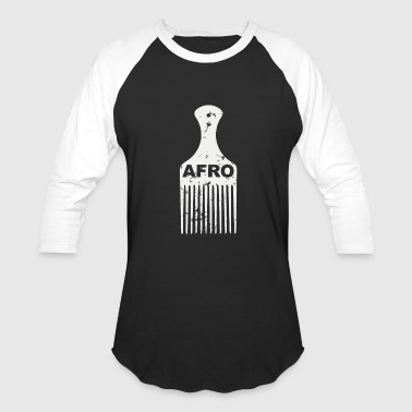 Vintage - afro hair pick distressed vintage loo - Baseball T-Shirt