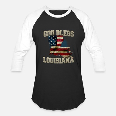 Cock Gods God Bless Louisiana Gift Proud Strong Awesome Design Gift - Baseball T-Shirt