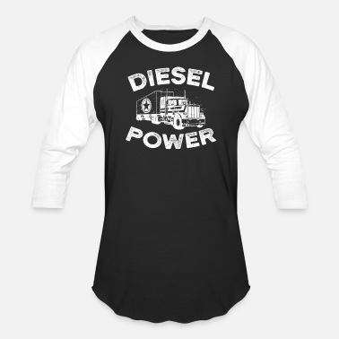 Electrical Diesel Power with big Truck - Baseball T-Shirt