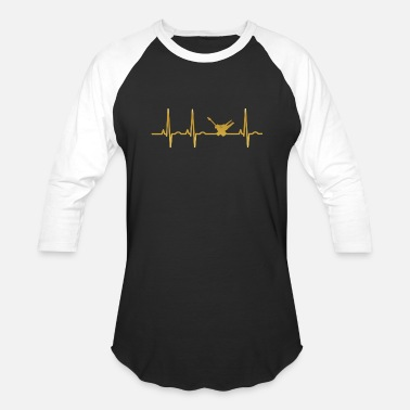 Elektriker evolution ekg heartbeat Elektriker - Baseball T-Shirt