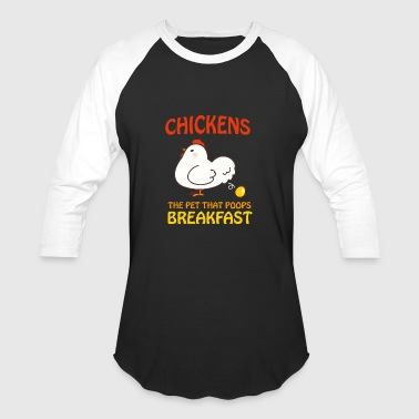 Golden Egg Chickens Pet That Poops Breakfast Funny Qute - Baseball T-Shirt