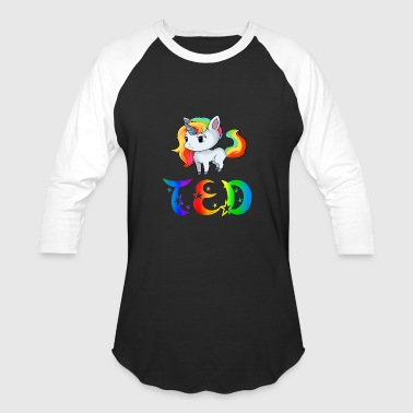 Ted Unicorn - Baseball T-Shirt