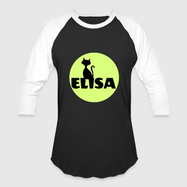 First Name Initial Elisa first name - Baseball T-Shirt