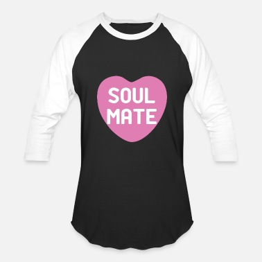 Hot Pink Heart Soul Mate Hot Pink Candy Heart - Baseball T-Shirt