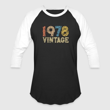 40th Birthday 1978 40th vintage RETRO birthday - Baseball T-Shirt