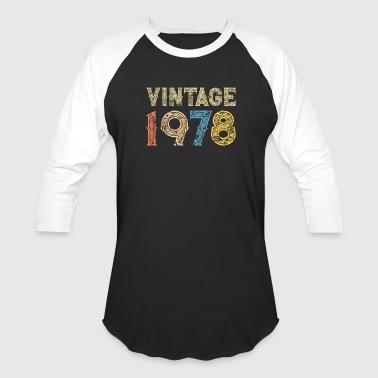 1978 1978 40th Vintage RETRO Birthday - Baseball T-Shirt