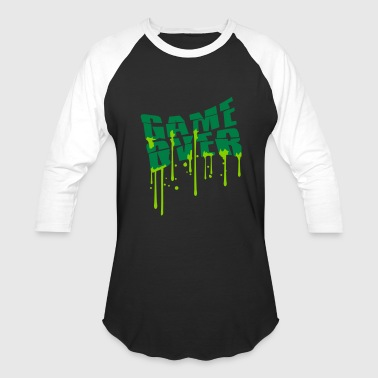 Puke Games stamp drop graffiti game over puke vomit nausea vo - Baseball T-Shirt