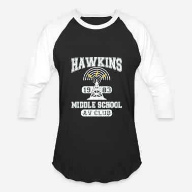 Hawkins Stranger Things Tee Hawkins AV Club - Baseball T-Shirt