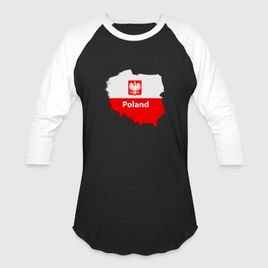 Poland map - Baseball T-Shirt