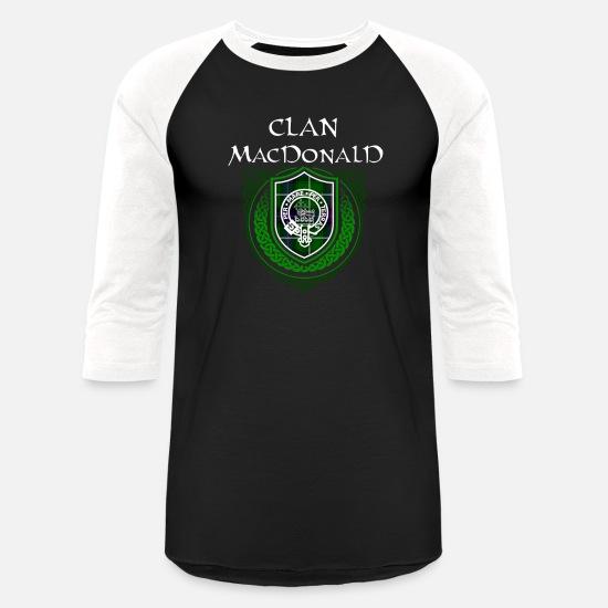 MacDonald Surname Scottish Clan Tartan Crest Badge Unisex Baseball T