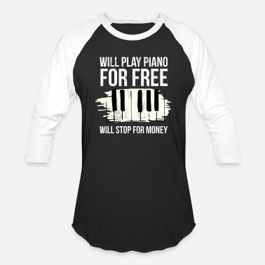 Keyboard Will Stop For Money Piano Players Tshirt Keyboard - Baseball T-Shirt