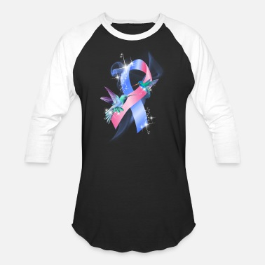 Infant Pregnancy and Infant Loss Blue Pink Butterfly Tee - Baseball T-Shirt