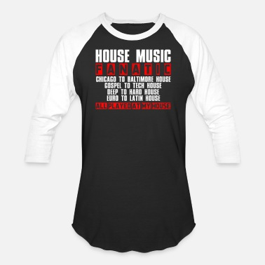 House HOUSE MUSIC FANATIC - Unisex Baseball T-Shirt