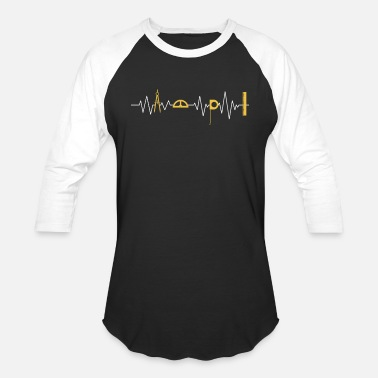 Architecture Wife Architect TShirt Architecture Tool Heartbeat Pulse - Baseball T-Shirt