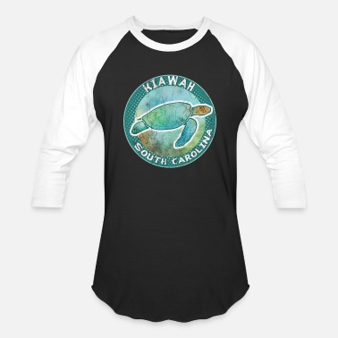 South Sea Islands Kiawah Island South Carolina Sea Turtle TShirt - Unisex Baseball T-Shirt