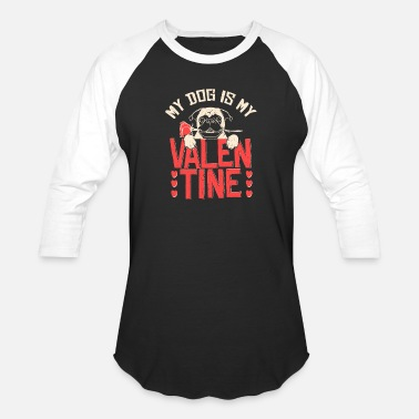 Valentine's Day Dog Valentine's Day - Unisex Baseball T-Shirt