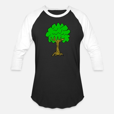 Linden Beautiful nature. Tree for environment and linden - Unisex Baseball T-Shirt