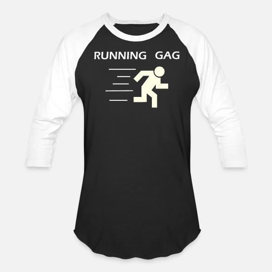 Sports T-Shirts - Running gag | joke - Unisex Baseball T-Shirt black/white