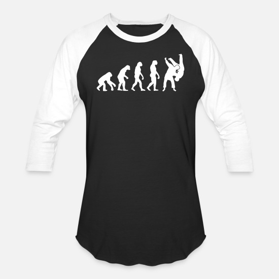 Sambo T-Shirts - Evolution - judo, sambo evolution - Unisex Baseball T-Shirt black/white
