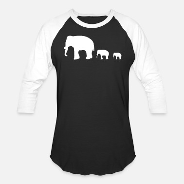 Group elephant group - Baseball T-Shirt