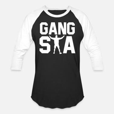 Gangsta Fitness Gangsta Funny - Baseball T-Shirt