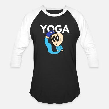 Goggley Eyes Yoga Cartoon Goggley eyes Comic Style - Unisex Baseball T-Shirt