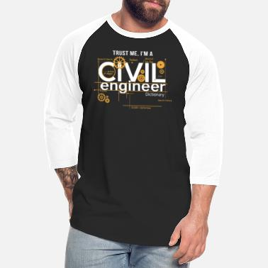 Zivi Civil Engineer Shirt - Unisex Baseball T-Shirt